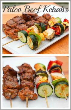 Paleo Beef Kebabs Paleo Beef Kebabs – Rubies & Radishes More from my site Easy Mexican Beef Skewers Grilled Steak Kabobs Kabob Recipes, Paleo Recipes Easy, Beef Recipes, Real Food Recipes, Camping Recipes, Bison Recipes, Sirloin Recipes, Fondue Recipes, Meatball Recipes