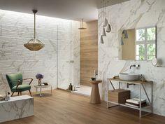 VENDOME CALACATTA FINITURA SOFT 40X120 RETTIFICATO - Iperceramica Bathroom Tile Designs, Calacatta, Design Case, Fixer Upper, Conference Room, Dining Table, Furniture, Home Decor, Google