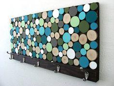 Wall Coat Rack  Wood Towel Rack with Hooks by ModernRusticArt, $275.00