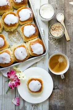 Iced Coconut Buns - Foodness Gracious