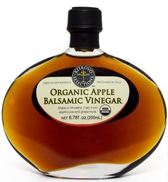 Ritrovo Selections Organic Balsamic Vinegar with natural infused of apple. USDA Certified Organic Apple Balsamic Vinegar produce using traditional balsamic methods. Aged Balsamic Vinegar of Modena Italy made from Juicy, tart organic Trentino Apples and organic .Modena grape must; Aged in oak barrel. Drizzle to finish grilled meat or roasted beets. Adds zest to fresh fruit and spinach salads. Blends with olive oils and delicious when paired with a fruity extra virgin olive oil. Balsamic Vinegar Of Modena, Aged Balsamic Vinegar, Organic Vinegar, Natural Spice, Italian Spices, Roasted Beets, Organic Fruit, Fresh Fruit, Gourmet Recipes