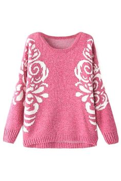 Classic Floral Pattern Sweater