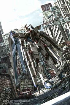 Metal Build Freedom Gundam - Photoshop Image Image via pjj03011