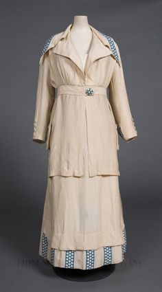 Woman's Suit, 1913-14, Silk, FIDM Museum hum plain simple not my usual style but I realy like this one