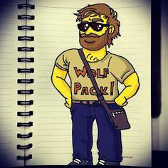 """D'oh! #Homerization #ZachGalifianakis #AlanGarner #Hangover #WolfPack #Sketch #Doodle #Simpsons"""
