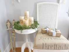 Evelyn and Rose: informal advent wreath