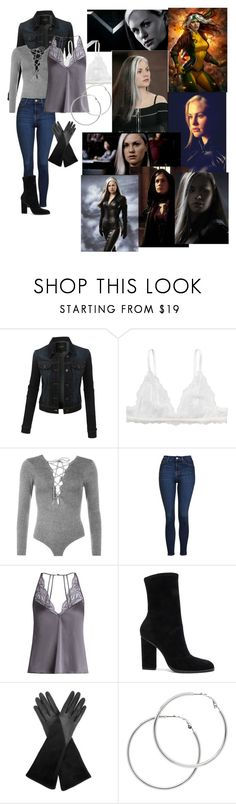 """""""X men Rogue🎗"""" by alex2115 ❤ liked on Polyvore featuring LE3NO, Monki, WearAll, Topshop, Fleur of England, Alexander Wang, Aquatalia by Marvin K. and Melissa Odabash"""