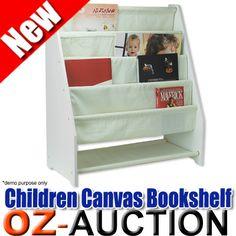 5 Level Tier Childrens Canvas Bookcase Book Shelf