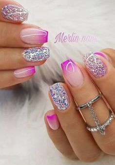 Accent nails punch up your mani in easy ways 32 00098 Best Acrylic Nails, Summer Acrylic Nails, Acrylic Nail Designs, Nail Art Designs, Accent Nail Designs, Nails Design, Fabulous Nails, Perfect Nails, Gorgeous Nails