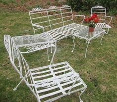 Details About Vintage Wrought Iron Patio Set Lyon Shaw