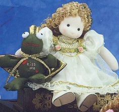 Frog Prince Doll   Sundays Child Sundays Child, Green Trees, Musicals, Prince, Teddy Bear, Dolls, Children, Animals, Craft