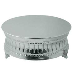 Tabletop Classics AC-9129 Nickel Plated Round Cake Stand - 16""