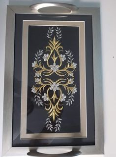 Gold Work, Frame, Sim, Home Decor, Bullion Embroidery, Embroidery, Picture Frame, Decoration Home, Room Decor