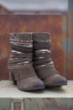 Nothing Can Stop Me Studded Boho Booties-Taupe - NanaMacs.com - 2