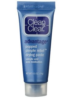 Clean & Clear Advantage Popped Pimple Relief Drying Paste works well for trouble spots! Sadly, I have to use this all the time!