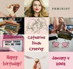 Harry Potter the Next Generation (Birthday): Catherine «Cathie» Dinah Creevey • January, 4th 2002 • Hufflepuff • Sabrina Carpenter
