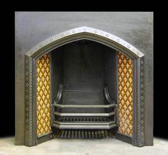 A Victorian tiled fireplace insert £820