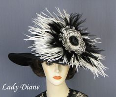 Just something entirely appropriate about a Derby Hat with decor that's larger than my head.  Lady Diane, $345