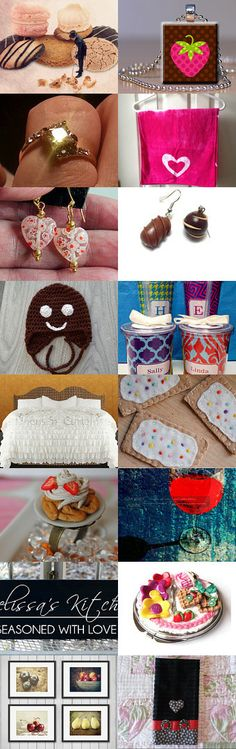 Valentine Goodies That Won't Make Us Fat ! by Betty S. on Etsy--Pinned with TreasuryPin.com #valentinesday