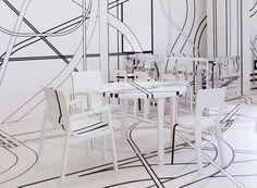 Optical Illusion Interiors : Logomo Cafe