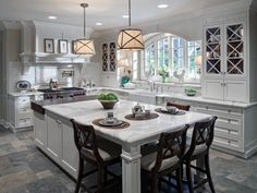 If you need inspiration for new kitchen designs, check out these sophisticated kitchen remodeling projects from HGTV.com.