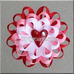 valentine hair bow - Google Search
