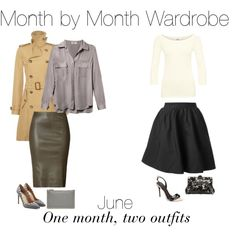Month by Month Wardrobe - June by charlotte-mcfarlane on Polyvore featuring L'Agence, Polo Ralph Lauren, Acne Studios, Jitrois, Valentino, Giuseppe Zanotti and Dolce&Gabbana