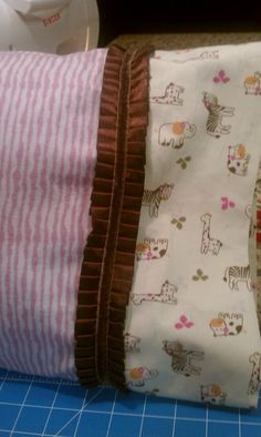 Closer look at a pillowcase