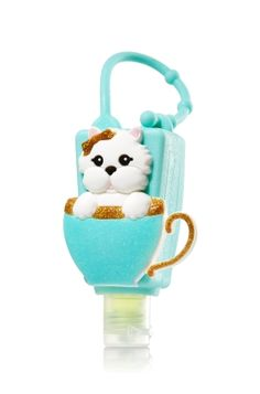 Teacup Pup - PocketBac Holder - Bath & Body Works - Too cute for germs! This puppy features an adjustable strap that attaches to your backpack, purse and more so you can always keep your fave sanitizer close at hand.