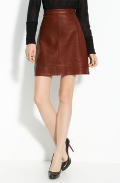 A.L.C. Aimee Leather Skirt- stunning!