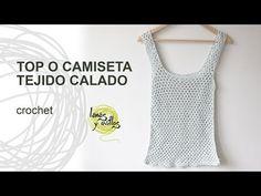 Tutorial Top o Camiseta de Verano Calada a Crochet o Ganchillo - YouTube #free #crochet #tutorial