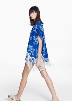 i love kimonos -  Mulher | MANGO #covetme #kimono #mango #bluekimono #mangokimono