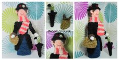 Crochet Mary Poppins. Custom order. Will be trying to write up the pattern :-)