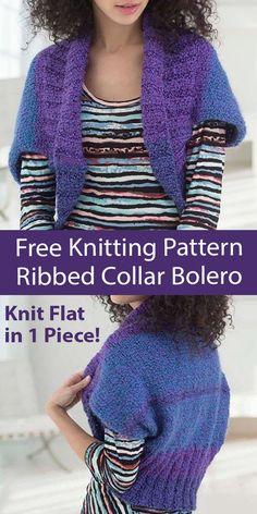 Easy Sweater Knitting Patterns, Shrug Knitting Pattern, Tunic Sewing Patterns, Knit Shrug, Loom Knitting Patterns, Shrug Cardigan, Free Knitting, Beginner Knitting, Knitting Ideas