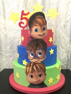 5th Birthday Party Ideas, 3rd Birthday, Happy Birthday, Birthday Parties, Dummy Cake, Alvin And The Chipmunks, Spider Girl, Number Cakes, Party Planning