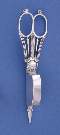 Silver candle snuffer, United Kingdon, dated 1823
