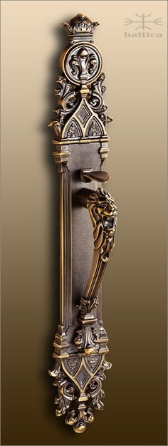 Davide lion thumbl - antique bronze - Custom Door Hardware - handcrafted by master artisans with attention to detail. The finest luxury door hardware. www.balticacustomhardware.com