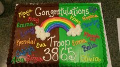 Girl Scout bridging cake ideas Girl Scout Bridging, Brownies, Girl Scouts, Cake Ideas, Daisy, Girl Guides, Daisies