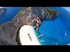 Base jumping in Zakynthos, Greece. - Unless you're a total adrenaline junkie. Deepika Padukone, Zakynthos Greece, Espanto, Hang Gliding, Base Jumping, Video Go, Canoe Trip, Great Videos, Crazy People