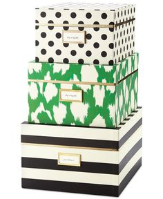 kate spade new york Nesting Boxes (Set of Three) - Handbags & Accessories - Macy's