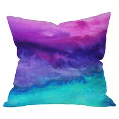 Jacqueline Maldonado Throw Pillow...my favorite colors all in one.