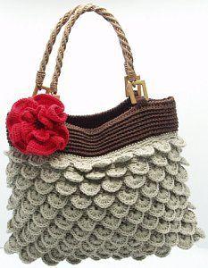 Crocodile stitch purse with diagram
