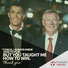Cristiano Ronaldo and Sir Alex Ferguson Soccer Player and Soccer Coach
