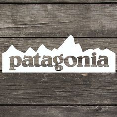 "Patagonia Inspired Mountain Decal made of Premium Indoor/Outdoor Vinyl Perfect for Car Windows or any Smooth Hard Surface 5""x 1.75"""