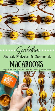 Letting food by thy medicine never tasted so good! Golden Sweet Potato & Coconut Macaroons are loaded with one of nature's best anti-inflammatories, turmeric, and are made from other incredibly nourishing real food ingredients! These easy and healthy golden beauties are as easy on the taste buds as they are on the eyes! #paleo #glutenfree #dairyfree #veggieloaded #healthydessert #grainfree #realfood