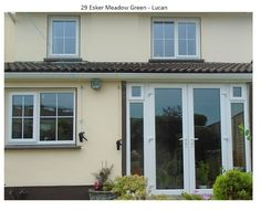 French Doors with 2 side window sections for all year round ventilation. The material used here is #upvc  and compliments the #upvcwindows