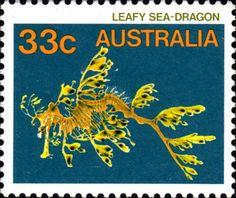 Leafy sea-dragon, Australian postage stamp, c.