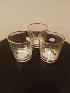 Item #5 - Gold Rimmed Glasses for Guest Table Decor (Hold Candles) from Home Goods