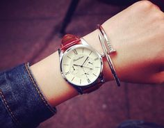 Minimalistische Uhr,Armbanduhr,Damen Leder Uhren von Sexy Sugar auf DaWanda.com