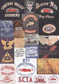 Mens Collections: Vintage Biker Graphics - Labels n Tags - Dessert Vintage Labels, Vintage Tees, Vintage Packaging, Tee Design, Logo Design, Retro Design, Graphic Design, Vintage Biker, Vintage Patches